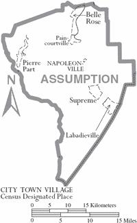 assumption-parish-louisiana-cities-towns-belle-rose-labadieville-napoleonville-parish-seat-paincourtville-pierre-part-supreme